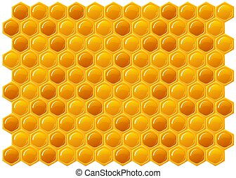 Honeycomb - ilustration of honeycomb texture background