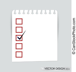 A checklist with black marker and red checked boxes Concept...