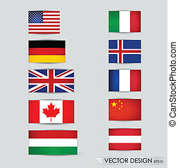 World flags. Vector illustration.
