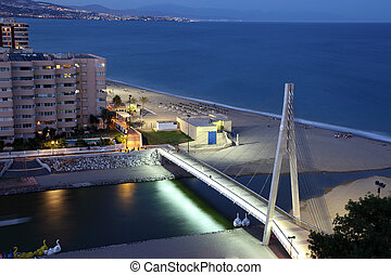 Fuengirola at dusk, Costa del Soal, Andalusia Spain