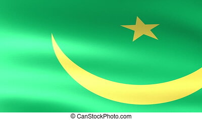 Mauritania Flag Waving