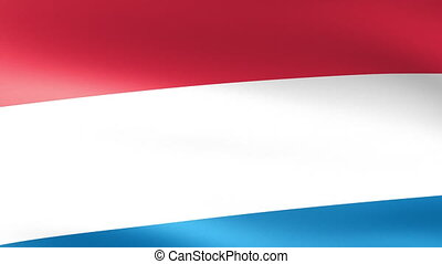 The Netherlands Flag Waving