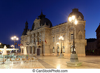 City hall building of Cartagena (Palacio Consistorial)....