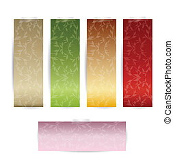 Tag Set with Luxury pattern background Vector Illustration