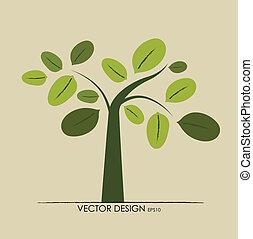 Estratto, albero, vettore, illustrazione