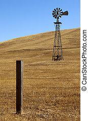 rancho, molino de viento