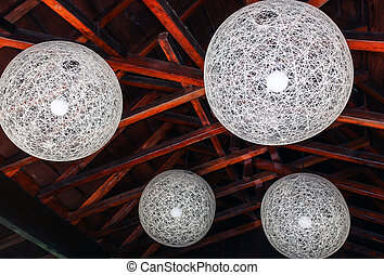 Orbital Decorative Ceiling Lights with Rafters