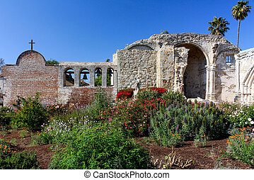 Mission San Juan Capistrano - Beautiful Gardens at Mission...