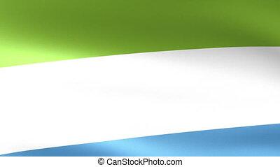 Sierra Leone Flag Waving