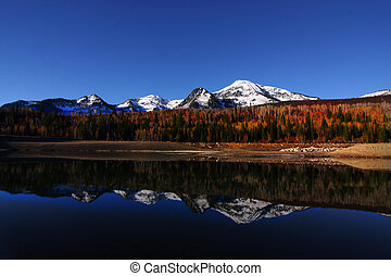 Mountain Reflections 2 - High mountain lake in the fall...