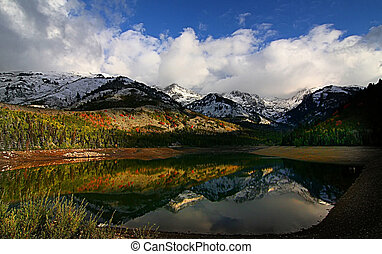 Mountain Reflections - High mountain lake in the fall...