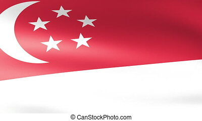 Singapore Flag Waving