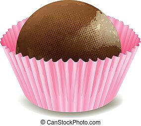 Chocolate Pink Cupcake