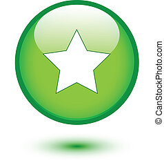 Star icon on green