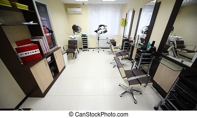 In salon hairdressing salon there are three workplaces, dryer and washbasin