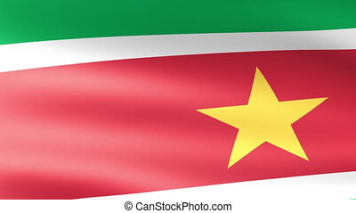 Suriname Flag Waving