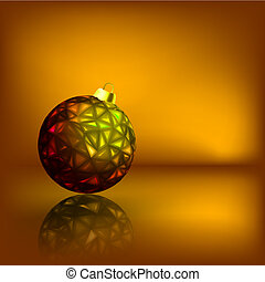 Christmas balls on the gold background. EPS 8
