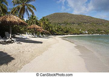 Beach Resort - A view of a peaceful island beach resort.