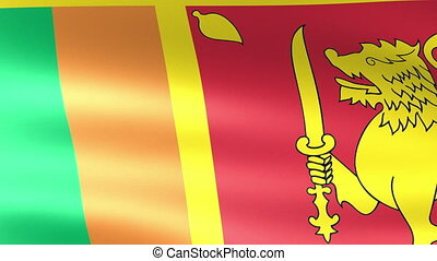 Sri Lanka Flag Waving
