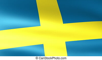 Sweden Flag Waving