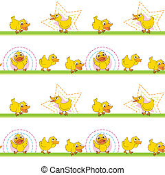 Seamless pattern with kid's theme - Illustration of a...