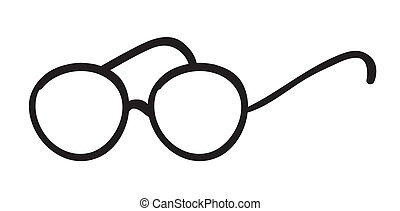 spectacles - illustration of spectacles on a white...