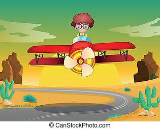 boy and aeroplane