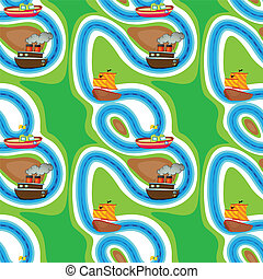 Seamless pattern with kid's theme