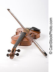 Violin and it\\\'s bow - The violin is very ancient musical...