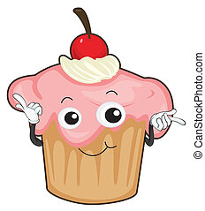 cake - illustration of cake on a white background