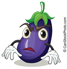 brinjal - illustration of brinjal on a white background