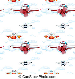 aeroplanes - illustration of a aeroplanes on a white...