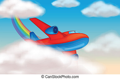 aircraft in the sky - illustration of a aircraft in the sky