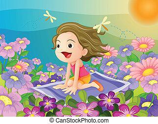 girl on a mat