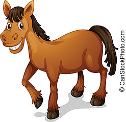 Horse cartoon - Illustration of a horse cartoon on white