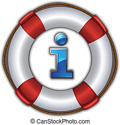 lifesaver floating - illustration of a lifesaver floating on...