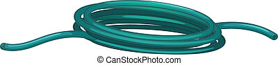 Garden hose - illustration of a garden hose on white...