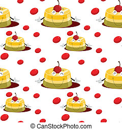 puding and berries
