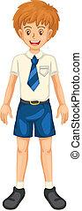 Boy in school dress - illustration of a boy in school dress...