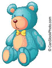 bear - Illustration of a blue teddy bear