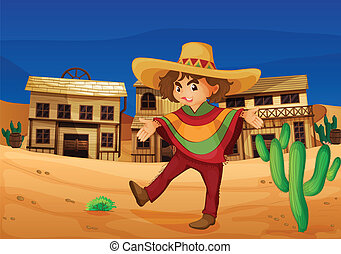 a mexican girl - illustration of a mexican girl in the...