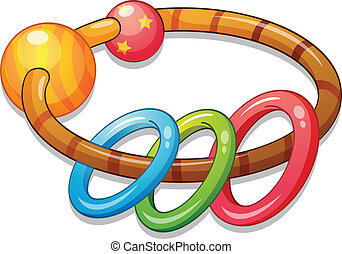 bangle - Illustration of a kids rattle