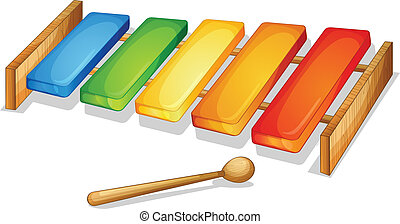 xylophone - illustration of xylophone on a white background