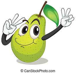 pear - illustration of a pear on a white background