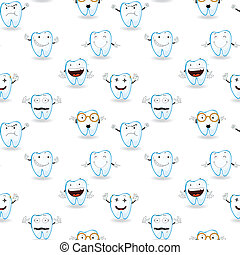 tooths - illustration of tooths on a white background