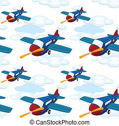 aeroplanes - illustration of aeroplanes on a white...