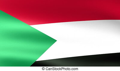 The Sudan Flag Waving