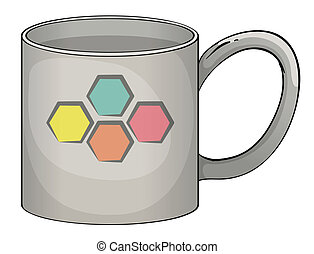 Mug - illustration of a mug in white background