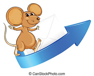 mouse, arrow and envelop - illustration of a mouse, arrow...