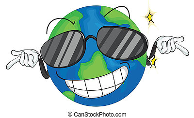 earth planet - illustration of earth planet on a white...